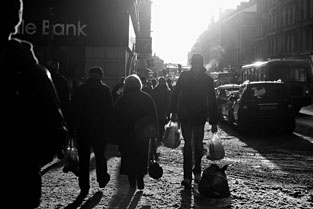 Photo: Byres Road evening light.