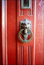 Photo: Lion door knocker.