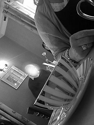 Photo: Man in tea cup York.