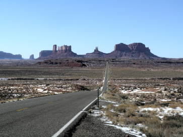 Photo: road to monument valley.